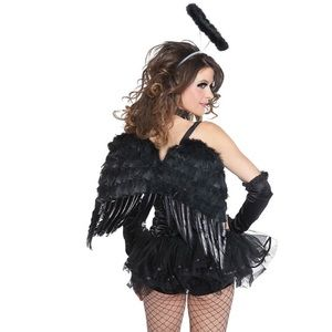 Black Angel Feather Wings